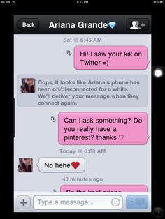 Please Tell Me This Isnt Real Her Kik Is Arrygrandy Idk If