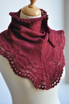 Andrea's Shawl by Kirsten Kapur. malabrigo Sock in Tiziano Red colorway.