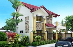 Rachel - Lovely Four Bedroom Two Storey - Pinoy House Plans Two Story House Design, Modern Small House Design, 2 Storey House Design, Modern Apartment Design, Small Modern Home, Bungalow House Design, Home Building Design, Building A House, Philippines House Design
