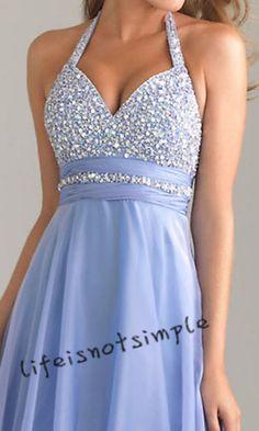 New light blue long prom dress evening dress by lifeisnotsimple
