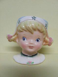Vintage Lefton Little Dutch Girl Egg Cup (Japan/#MR22071)