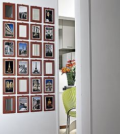 ESPELHO-RETRATO Vendidos em lojas de R$ 1,99, os espelhinhos com moldura plástica cor de laranja podem se transformar em originais porta-retratos