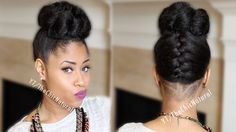 Fab French Braided Bun Updo [ On Natural Hair ]