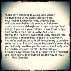 Waiting on a Godly man!