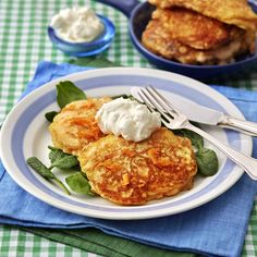Fodmap Diet, Fritters, Lchf, Baby Food Recipes, Cauliflower, Vegetarian Recipes, Good Food, Brunch, Food And Drink