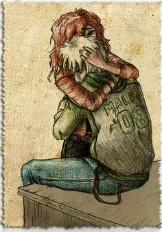 Scorpius & Rose - rose-and-scorpius Fan Art ... i kind of think its adorable to have a slytherin be sweet :)