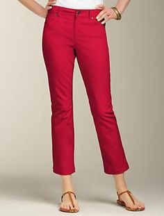 Talbots - Signature Fit Piper Colored Denim Flared Crop Jean | Pants | Apparel