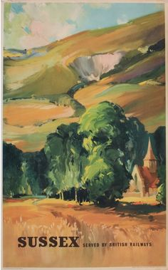 Claude Buckle (1905-1973) Sussex, original poster Ad 6697 printed for BR (SR) by Waterlow circa 1950