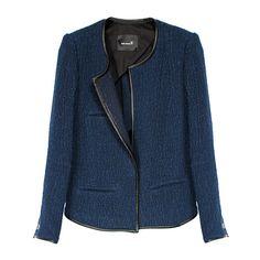 Isabel Marant Elali Jacket (€790) ❤ liked on Polyvore featuring outerwear, jackets, coats, blazers, isabel marant, women, tweed jacket, collarless jacket, long sleeve jacket y collarless tweed jacket