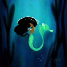 Art by Vashti Harrison https://society6.com/product/mermaid-8c6_print#1=45