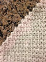 How to make a ninety degree turn with Tunisian Simple Stitch. #crochet with Yarns From The Southland