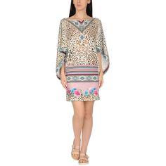 Blumarine Beachwear Beach Dress ($140) ❤ liked on Polyvore featuring dresses, beige, beach dresses, blumarine dress, leopard dress, leopard print dresses and rhinestone dress