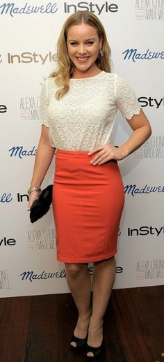 Abbie Cornish attends the launch of Alexa Chung for Madewell's Fall 2011 collection at Chateau Marmont on Wednesday (September 21) in Los Angeles. Abbie is wearing a Madewell top.