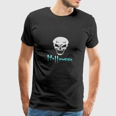 Halloween Macht Mich An I Totenkopf Party - Männer Premium T-Shirt 3d T Shirts, Halloween, Party, Mens Tops, Fashion, Road Racer Bike, Men And Women, Hoodie, Moda