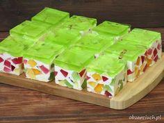 Wiosenny śmietanowiec - Obżarciuch Jello Desserts, Jello Recipes, Cookie Desserts, Easter Recipes, No Bake Desserts, Cake Recipes, Bolo Original, Best Italian Recipes, Polish Recipes