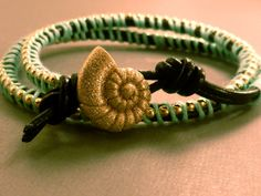 Adjustable Leather Wrap Bracelet Ball Chain by CraftsbyBrittany, $11.00