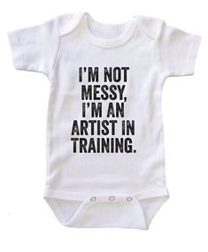 """""I am an Artist in Training"""" Baby Onesie Bodysuit"