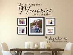 Artículos similares a Family wall decal - Memories Wall Decal - Family decal - Family Room Decal - Picture wall decal - memories - Family room decor - wall art en Etsy Family Wall Decor, Family Room Decorating, Family Room Design, Stairwell Decorating, Decorating Ideas, Decor Ideas, Memory Wall, Nursery Wall Decals, Wall Sticker
