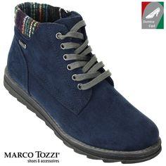 Marco Tozzi női vízlepergető bokacipő 2-26208-29 890 kék kombi