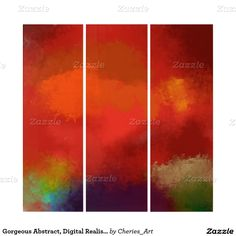 Gorgeous Abstract, Digital Realism Triptych