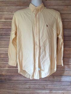 Ralph Lauren Yellow Dress Shirt 15 1/2-33 #RalphLauren