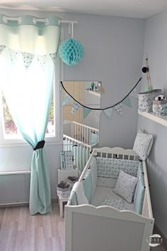 Ideas for baby girl beedrom mint Baby Bedroom, Baby Boy Rooms, Baby Boy Nurseries, Baby Cribs, Nursery Room, Girl Nursery, Kids Bedroom, Boy Decor, Boys Room Decor