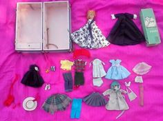 Jan in BOX by Vogue Hard Plastic with Cass Trunk HUGE Wardrobe, Clothes, Shoes  #Vogue #HardPlastic