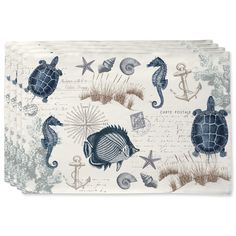 Seaside Postcard Placemats