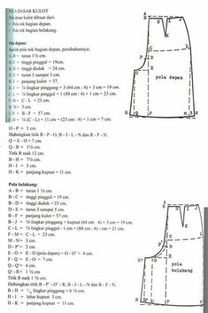 New sewing clothes pants costura Ideas Sewing Patterns For Kids, Dress Sewing Patterns, Clothing Patterns, Pattern Sewing, Couture Vintage, Sewing Blouses, Sewing Pants, Pola Rok, Pattern Cutting