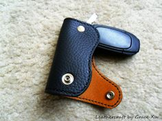 Hand made hand stitched cowhide leather key holder