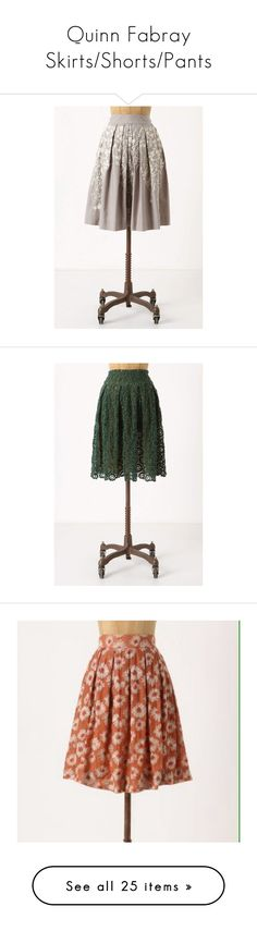 """""""Quinn Fabray Skirts/Shorts/Pants"""" by taught-to-fly19 on Polyvore featuring skirts, anthropologie, women, knee length pleated skirt, petite skirts, petal skirts, embroidered skirt, pleated skirt, knee length lace skirt e flower skirt"""