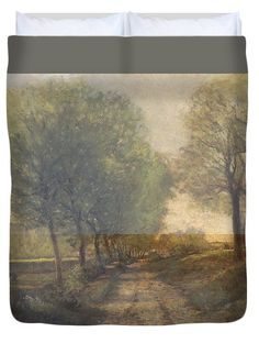 David Bridburg Duvet Cover featuring the digital art Rustic 12 Sisley by David Bridburg
