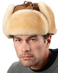 f62f2e4bf9b Alaska Shearling Sheepskin Trapper Hat in Tan