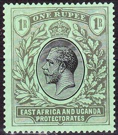 East Africa and Uganda 1 Rupee 1912 Stamp Values, Crown Colony, Rare Stamps, East Africa, Stamp Collecting, Postage Stamps, Uganda, Kenya, Ephemera