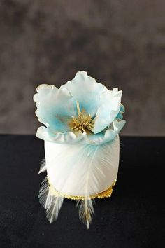 Blue Flower Mini Cake