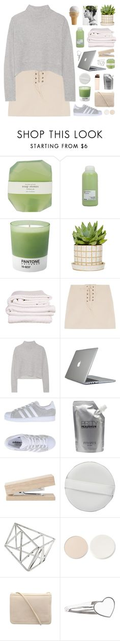 """""""but you know its only temporary"""" by via-m ❤ liked on Polyvore featuring Pelle, Davines, Pantone, Brahms Mount, Line, Speck, adidas Originals, Prtty Peaushun, Topshop and Stila"""