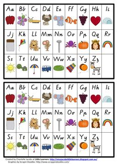 Alphabet chart VIC Modern Cursive Miss Jacobs Little Learners FREE