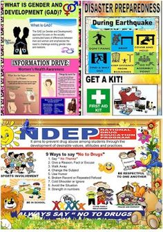 High Quality Posters for GAD, DRRM and NDEP Corner