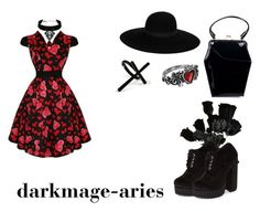 """""""Untitled #72"""" by darkmage-aries ❤ liked on Polyvore featuring Tatyana, Maison Michel, Emi Jewellery and Jeffrey Campbell"""