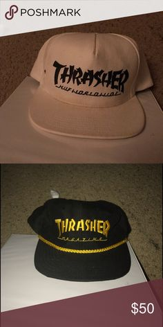 2679b279cbb Thrasher snap backs Black and white thrasher and gold and black thrasher  snap backs thrasher Accessories Hats