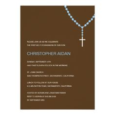 Holy Rosary Baptism /First Communion Invitation.  $1.95