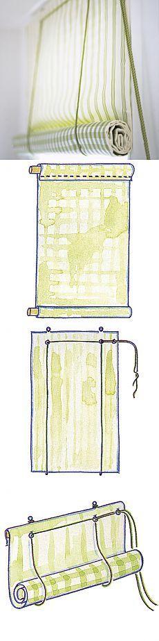 Практичные шторы на кухню...