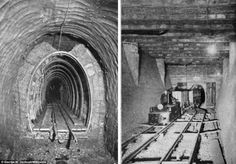 Abandoned Underground Freight Railway (Chicago) - Inventive: The constant underground air temperature of 55F led to a second line of business air conditioning. Several theaters bought tunnel air to keep audiences cool
