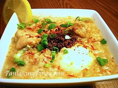 Arroz Caldo is a popular Filipino Congee. This recipe will show you how to properly cook arroz caldo along with its toppings. Get all the details by reading this post.