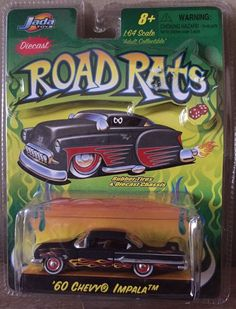 JADA Toys Diecast 1960 Chevy Impala 1:64 Adult Collectible Road Rats FlameDesign #JadaToys #Chevrolet