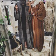Brown & Grey open#abaya#modest wear#hijabi