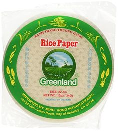 Greenland Spring Roll Rice Paper Wrappers  22 cm Pack of 3 -- Learn more by visiting the image link.