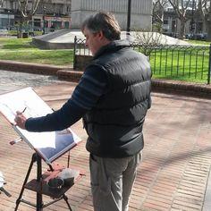 """""""A cielo abierto, plaza de los Treinta y Tres, con A.C.U.A"""" Montevideo - Uruguay"""