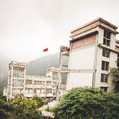 Yingxiu school earthquake site  SA  #studioathesis #china #architecture #Yingxiu #earthquake #Sichuan #2008 #travel