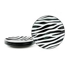Zebra Medium Plates (10/pkg) | party supplies | Pinterest | Zebras ...